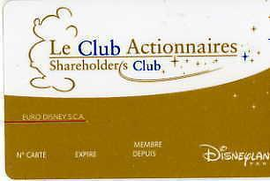 carte Club actionnaires