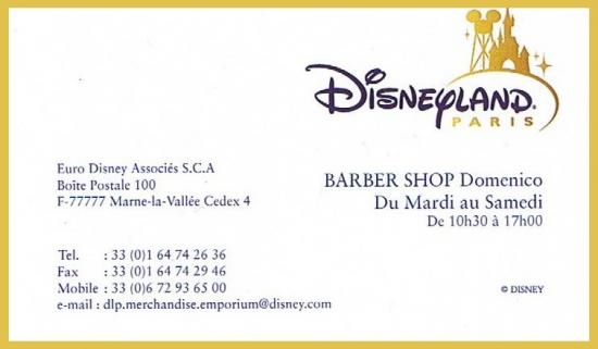 Carte barber shop disney