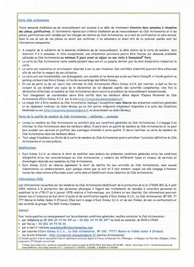 Conditions generales Club actionnaires