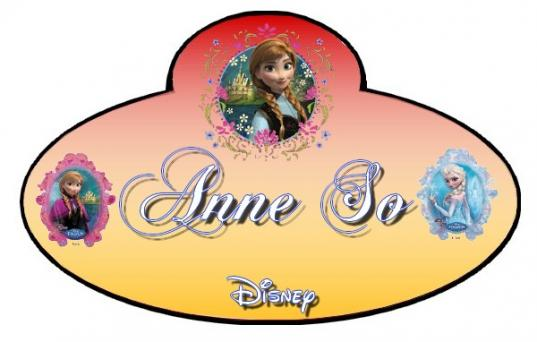 Name tag rouge jaune anne so