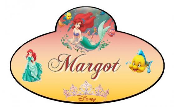 Name tag rouge jaune margot 2