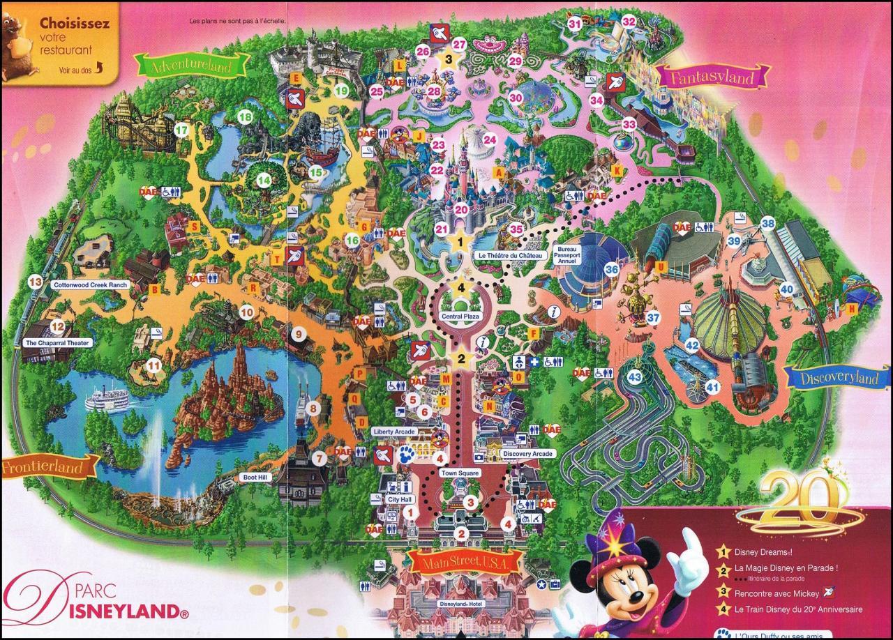 Plan Pdf Disneyland Plan du Parc Disneyland