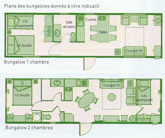 Davy crockett ranch for Plan bungalow 1 chambre